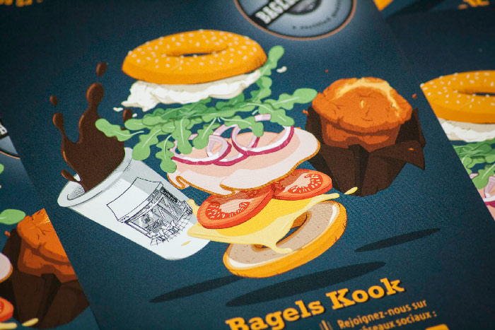 Bagels Kook - illustration