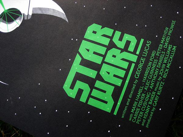 Star Wars - sérigraphie, affiche