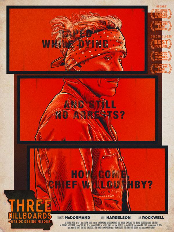 affiche alternative pour le film Three Billboards - cinema, affiche alternative, poster