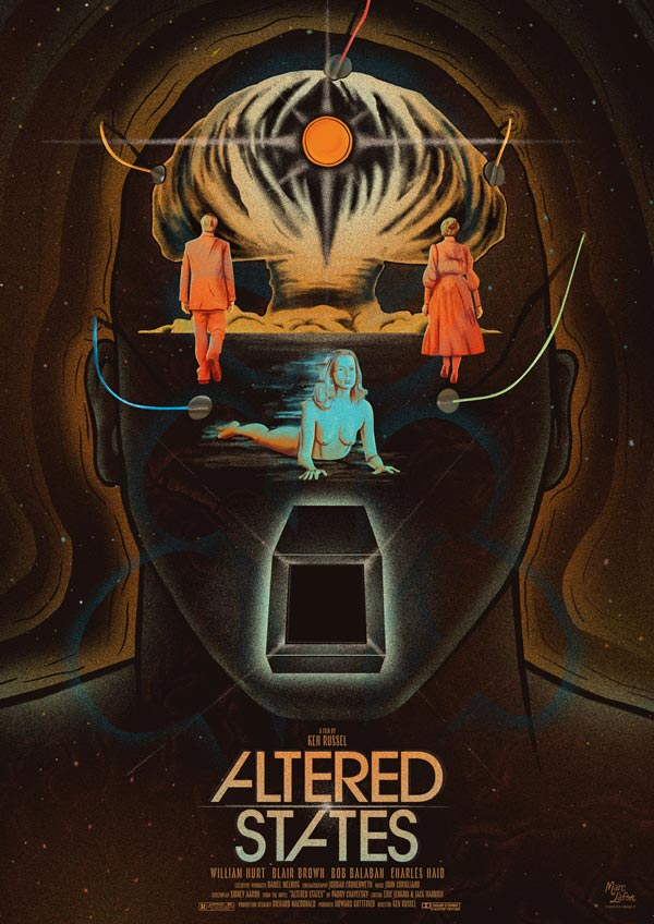 Affiche alternative du film Altered States de Ken Russel