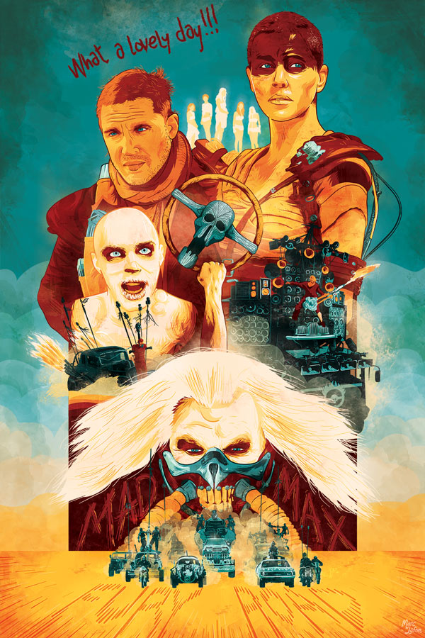 affiche revisitée de Mad Max Fury Road