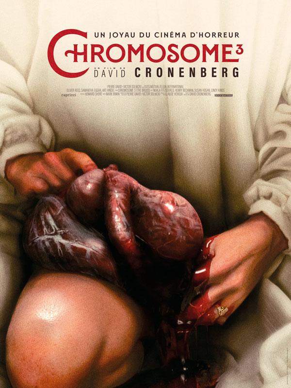 Affiche officiel de la ressortie de Chromosome 3 (The Brood)