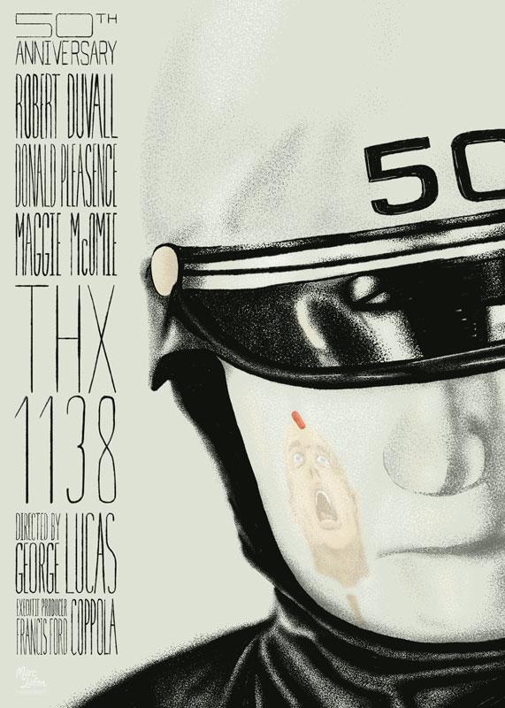 affiche alternative de THX 1138 de George Lucas